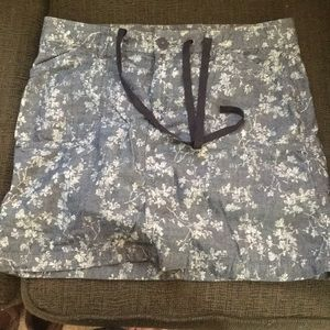 White Stag denim floral skort with pockets
